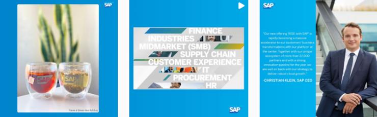 SAP erweiterter Instagram Feed