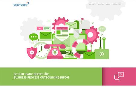 Produkt Landingpage für SERVISCOPE