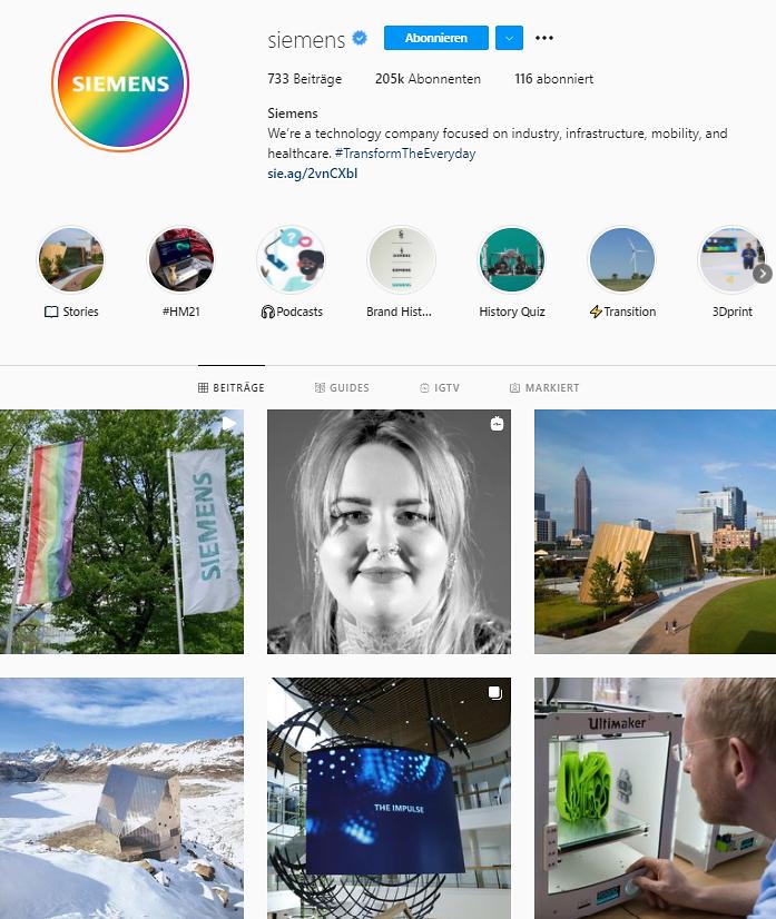 Siemens Instagram Feed